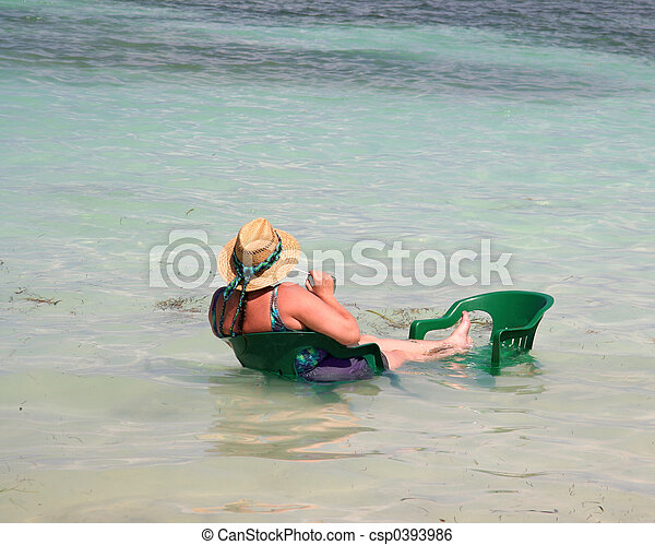 Retired Woman on Vacation - csp0393986