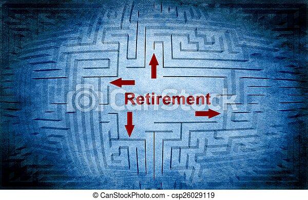 Retirement maze concept - csp26029119