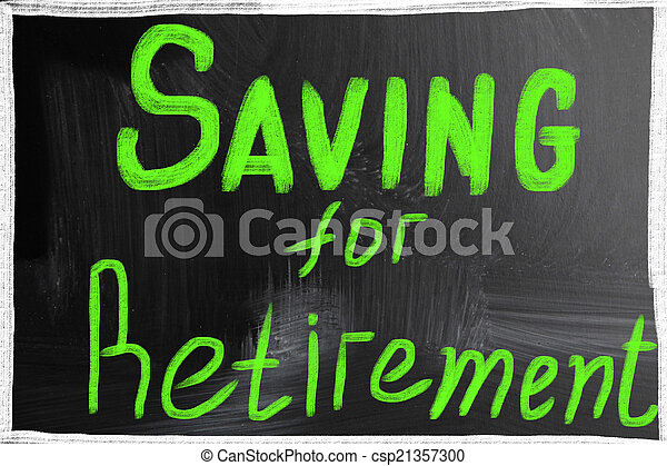 Ahorrando para la jubilación - csp21357300