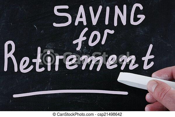 Ahorrando para la jubilación - csp21498642