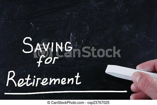 Ahorrando para la jubilación - csp23767025