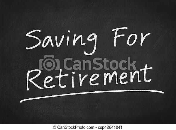 Ahorrando para la jubilación - csp42641841