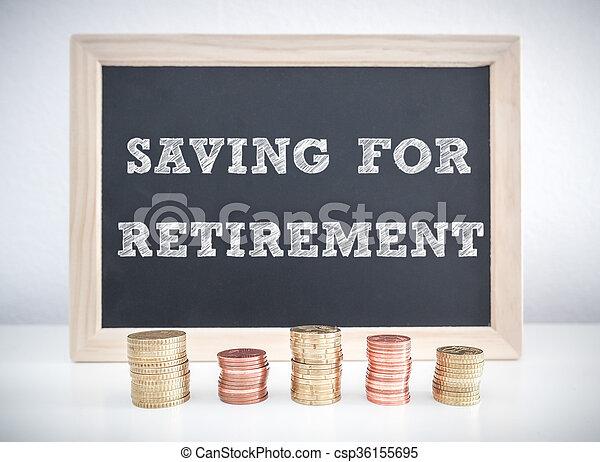 Ahorrando para la jubilación - csp36155695