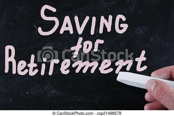 Ahorrando para la jubilación - csp21498578