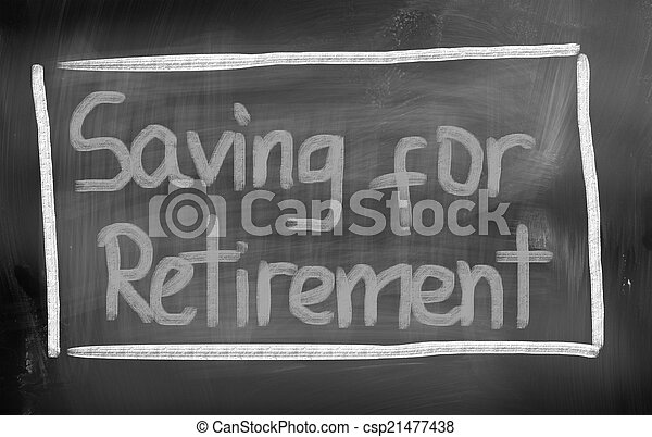 Ahorrando para el concepto de jubilación - csp21477438