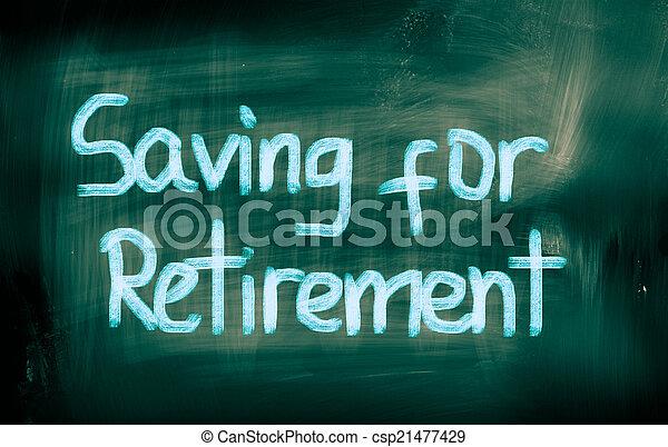 Ahorrando para el concepto de jubilación - csp21477429