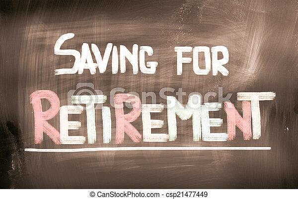 Ahorrando para el concepto de jubilación - csp21477449