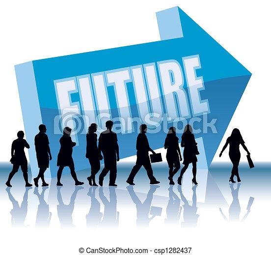retning, fremtid, - - csp1282437