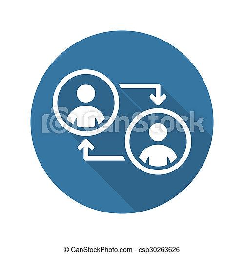 Retraining Icon. Business Concept. Flat Design. - csp30263626
