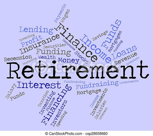 retraité, retraite, spectacles, travail, finition, mot - csp28658660