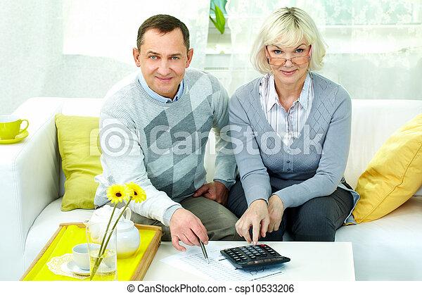 retraités, maison - csp10533206