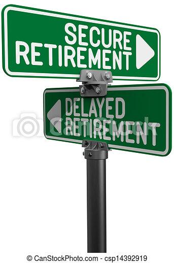 retraite, assurer, retardé, fonds, plan, ou - csp14392919