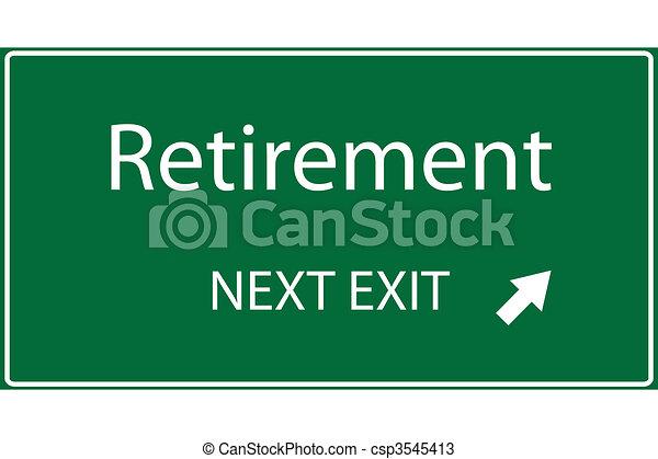 retraite, illustration - csp3545413