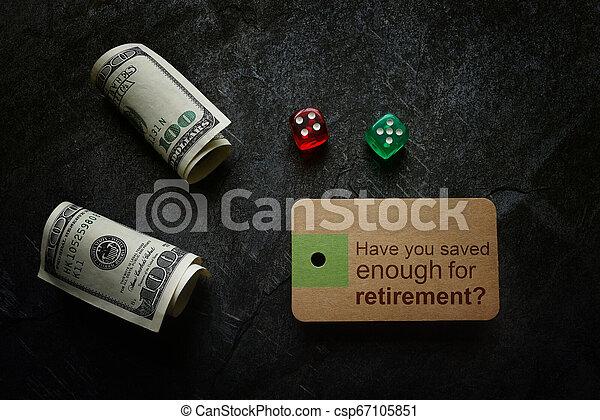 retraite, planification, économie - csp67105851
