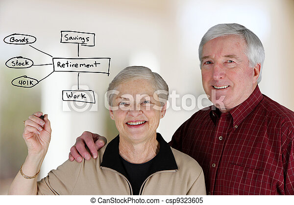 retraite, planification - csp9323605