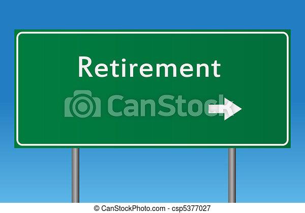 retraite, signe - csp5377027