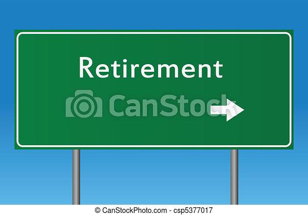 retraite, signe - csp5377017