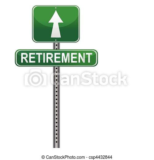 retraite, signe rue - csp4432844