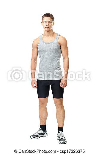 Retrato de joven atleta musculoso - csp17326375