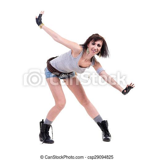 Retrato de una hermosa bailarina posando - csp29094825