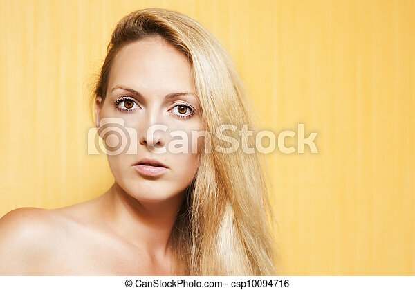 retrato, beleza, moda, mulher - csp10094716