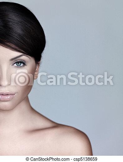 retrato, beleza natural - csp5138659