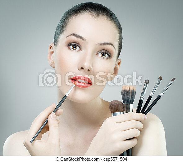 retrato, belleza - csp5571504
