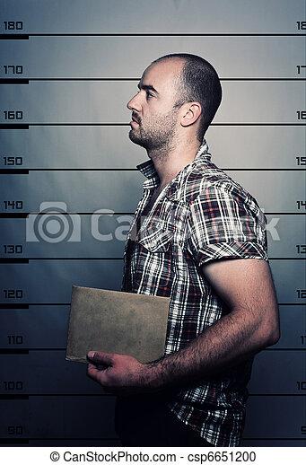 retrato, criminal - csp6651200