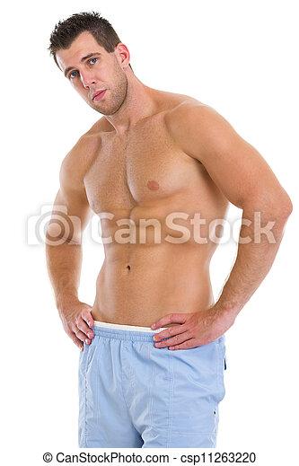 Retrato de deportista muscular - csp11263220