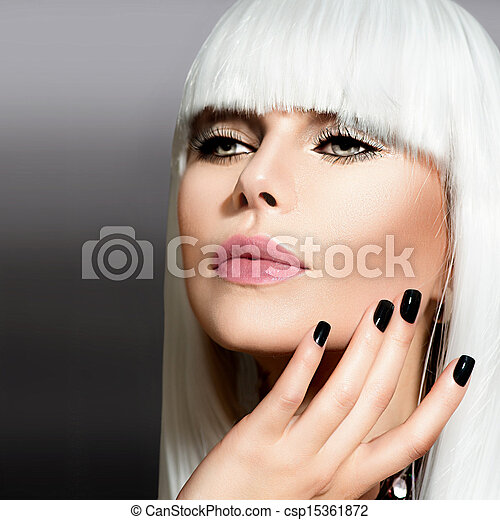 retrato, estilo, modelo, moda - csp15361872
