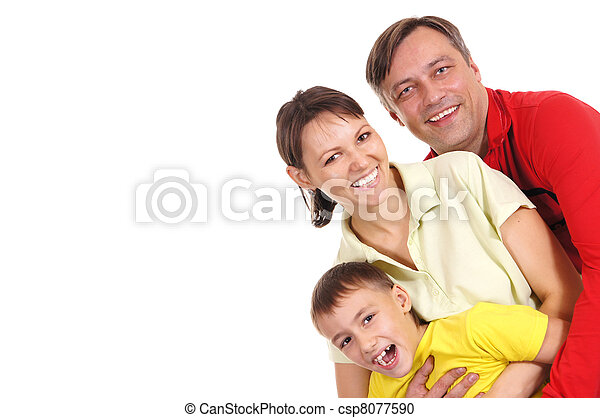 Feliz retrato familiar - csp8077590