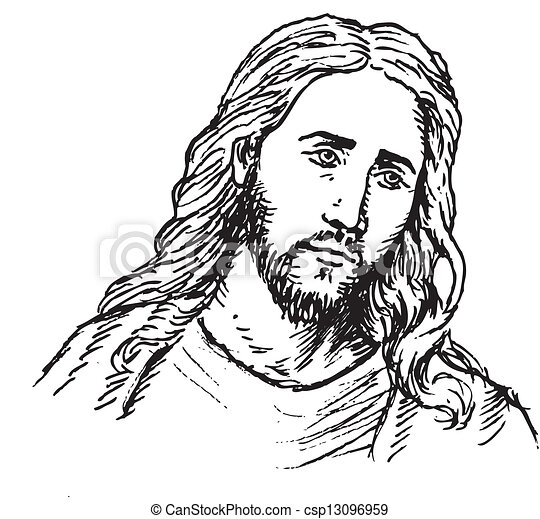 retrato, jesús - csp13096959