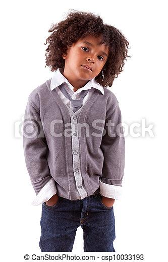 Retrato de un lindo niño africano - csp10033193