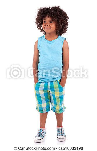 Retrato de un lindo niño africano - csp10033198