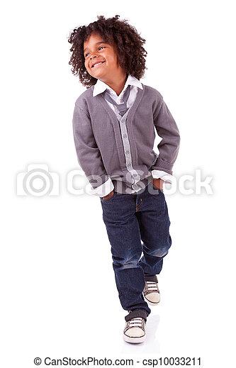 Retrato de un lindo niño africano - csp10033211