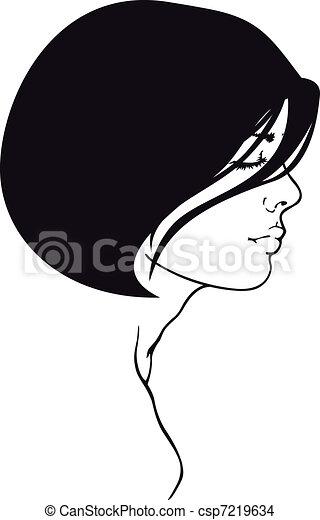 Retrato de mujer - csp7219634