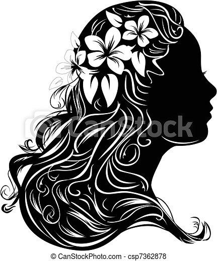Retrato de una mujer - csp7362878