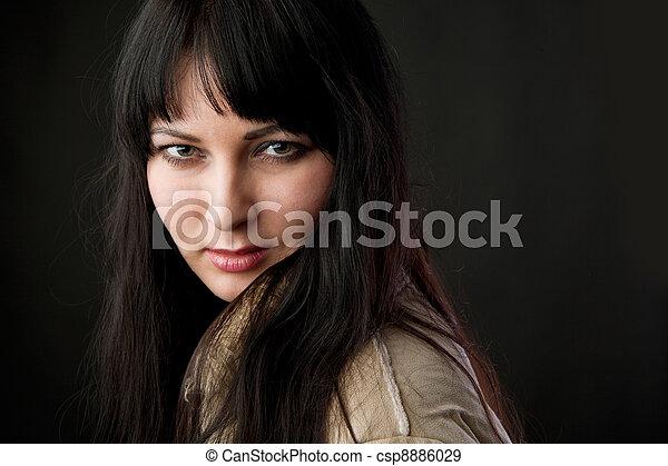 retrato, mujer - csp8886029