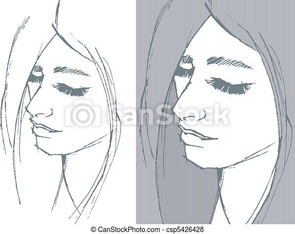 Retrato de la joven - csp5426428