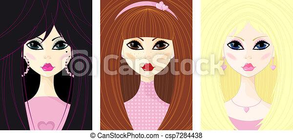 Retrato de la joven - csp7284438