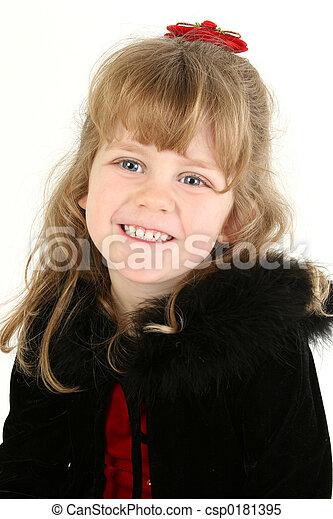 Un retrato de niña - csp0181395