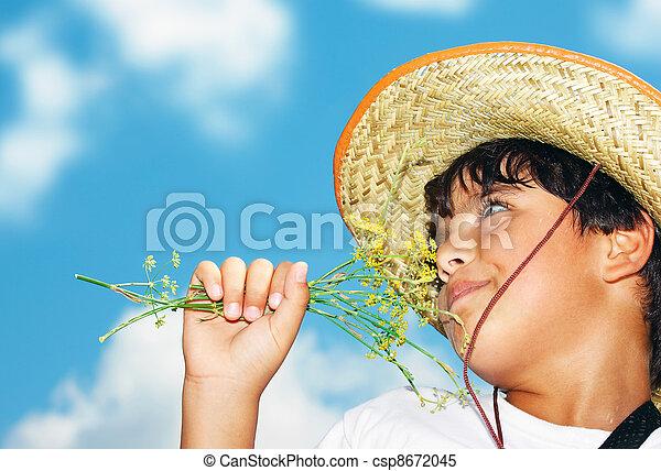 Retrato de un niño - csp8672045