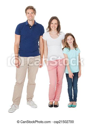 retrato, sorrindo, família - csp21502700