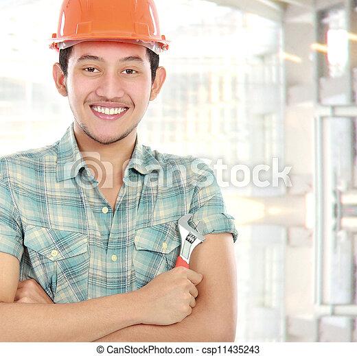 Retrato de trabajador - csp11435243