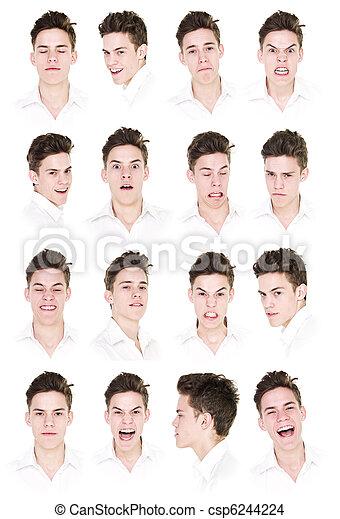 retratos, 16, homem - csp6244224