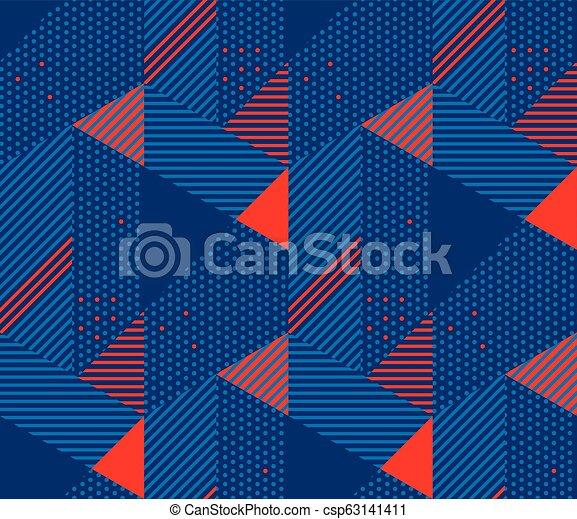 Retro 90s Style Simple Geometric Seamless Pattern