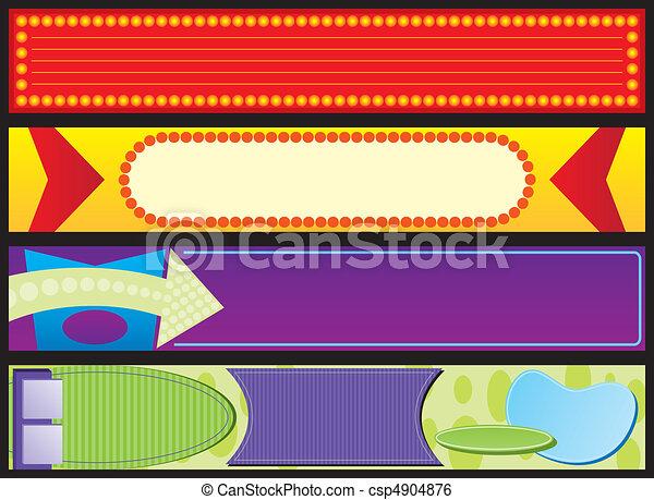 Retro Advertising Web Banners - csp4904876