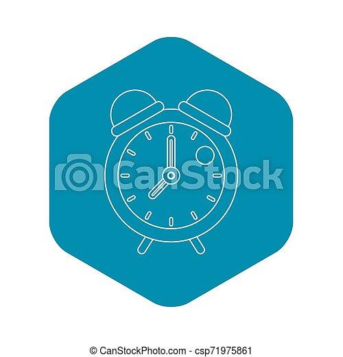 Retro alarm clock icon, outline style - csp71975861