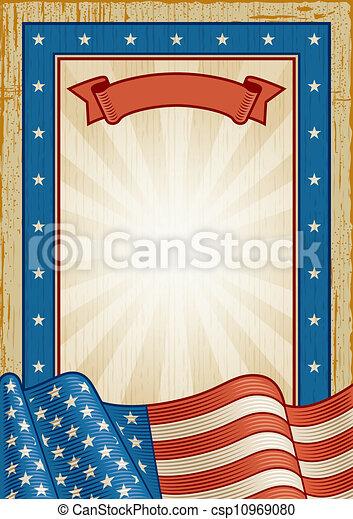 Retro American Frame - csp10969080