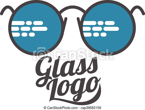 1225a2a2cfc4 Retro and modern style glasses logo set. Glasses logo